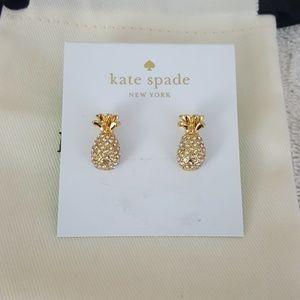 New kate spade By The Pool Pineapple Stud Earrings